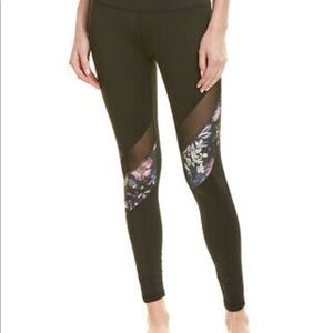 Bebe Sport black floral leggings